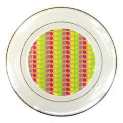 Colorful Leaf Pattern Porcelain Display Plate by creativemom