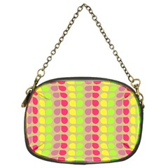 Colorful Leaf Pattern Chain Purse (two Sided)  by creativemom
