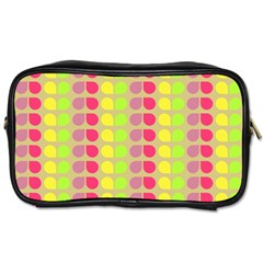 Colorful Leaf Pattern Travel Toiletry Bag (one Side) by creativemom