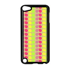 Colorful Leaf Pattern Apple Ipod Touch 5 Case (black) by creativemom