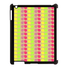 Colorful Leaf Pattern Apple Ipad 3/4 Case (black) by creativemom