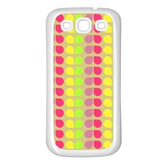 Colorful Leaf Pattern Samsung Galaxy S3 Back Case (white) by creativemom