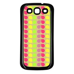 Colorful Leaf Pattern Samsung Galaxy S3 Back Case (black) by creativemom