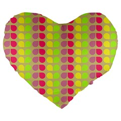 Colorful Leaf Pattern 19  Premium Flano Heart Shape Cushion by creativemom