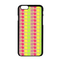 Colorful Leaf Pattern Apple Iphone 6 Black Enamel Case by creativemom