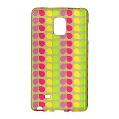 Colorful Leaf Pattern Samsung Galaxy Note Edge Hardshell Case by creativemom
