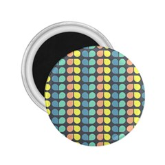 Colorful Leaf Pattern 2 25  Button Magnet by creativemom