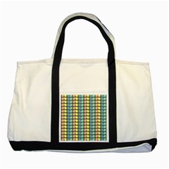 Colorful Leaf Pattern Two Toned Tote Bag by creativemom
