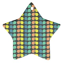 Colorful Leaf Pattern Star Ornament (two Sides) by creativemom