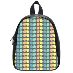 Colorful Leaf Pattern School Bag (Small) by creativemom