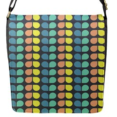 Colorful Leaf Pattern Flap Closure Messenger Bag (small) by creativemom