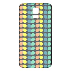 Colorful Leaf Pattern Samsung Galaxy S5 Back Case (white) by creativemom