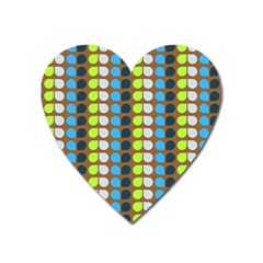 Colorful Leaf Pattern Magnet (heart) by creativemom