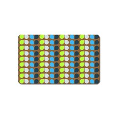 Colorful Leaf Pattern Magnet (name Card) by creativemom
