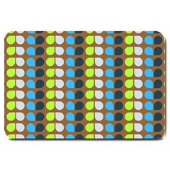 Colorful Leaf Pattern Large Door Mat by creativemom