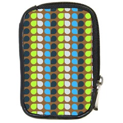 Colorful Leaf Pattern Compact Camera Leather Case by creativemom
