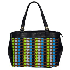 Colorful Leaf Pattern Oversize Office Handbag (one Side) by creativemom