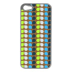Colorful Leaf Pattern Apple Iphone 5 Case (silver) by creativemom