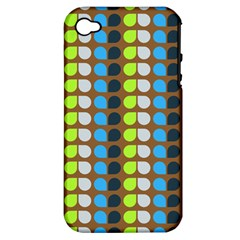 Colorful Leaf Pattern Apple Iphone 4/4s Hardshell Case (pc+silicone) by creativemom