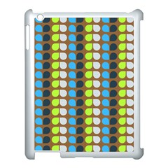 Colorful Leaf Pattern Apple Ipad 3/4 Case (white) by creativemom