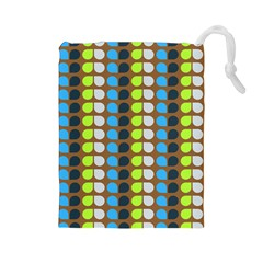 Colorful Leaf Pattern Drawstring Pouch (large) by creativemom