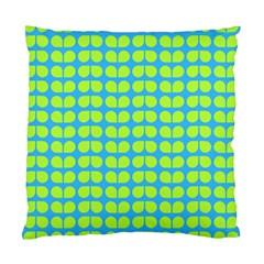 Blue Lime Leaf Pattern Cushion Case (single Sided)  by creativemom