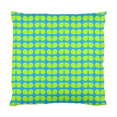 Blue Lime Leaf Pattern Cushion Case (two Sided)  by creativemom