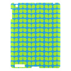 Blue Lime Leaf Pattern Apple Ipad 3/4 Hardshell Case by creativemom
