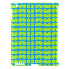 Blue Lime Leaf Pattern Apple Ipad 3/4 Hardshell Case (compatible With Smart Cover) by creativemom