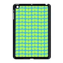 Blue Lime Leaf Pattern Apple Ipad Mini Case (black) by creativemom