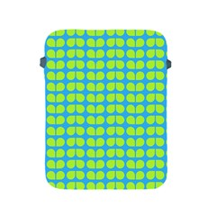 Blue Lime Leaf Pattern Apple Ipad Protective Sleeve by creativemom