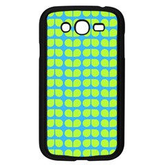 Blue Lime Leaf Pattern Samsung Galaxy Grand Duos I9082 Case (black) by creativemom