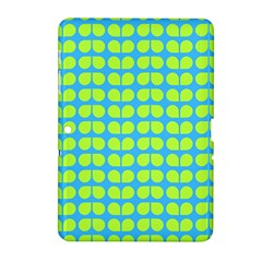 Blue Lime Leaf Pattern Samsung Galaxy Tab 2 (10 1 ) P5100 Hardshell Case  by creativemom