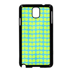 Blue Lime Leaf Pattern Samsung Galaxy Note 3 Neo Hardshell Case (black) by creativemom