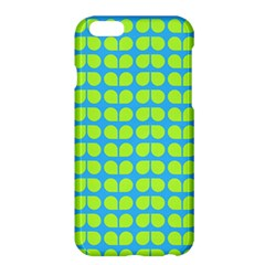 Blue Lime Leaf Pattern Apple Iphone 6 Plus Hardshell Case by creativemom