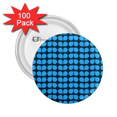 Blue Gray Leaf Pattern 2 25  Button (100 Pack) by creativemom