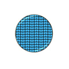 Blue Gray Leaf Pattern Golf Ball Marker 10 Pack (for Hat Clip) by creativemom