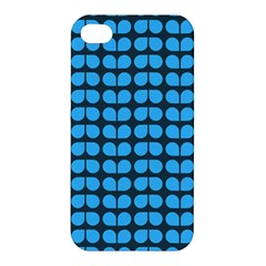 Blue Gray Leaf Pattern Apple Iphone 4/4s Hardshell Case by creativemom