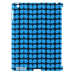 Blue Gray Leaf Pattern Apple Ipad 3/4 Hardshell Case (compatible With Smart Cover) by creativemom