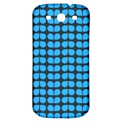 Blue Gray Leaf Pattern Samsung Galaxy S3 S Iii Classic Hardshell Back Case by creativemom