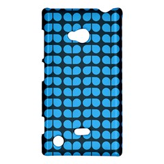 Blue Gray Leaf Pattern Nokia Lumia 720 Hardshell Case by creativemom
