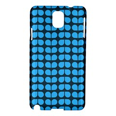 Blue Gray Leaf Pattern Samsung Galaxy Note 3 N9005 Hardshell Case by creativemom