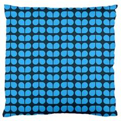 Blue Gray Leaf Pattern Standard Flano Cushion Case (one Side) by creativemom