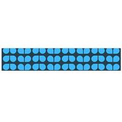 Blue Gray Leaf Pattern Flano Scarf (large) by creativemom
