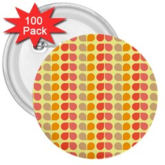 Colorful Leaf Pattern 3  Button (100 Pack) by creativemom