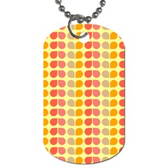 Colorful Leaf Pattern Dog Tag (one Sided) by creativemom