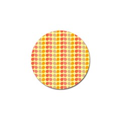 Colorful Leaf Pattern Golf Ball Marker 10 Pack by creativemom