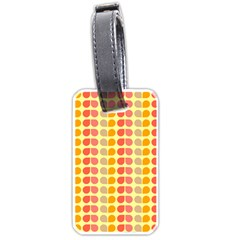 Colorful Leaf Pattern Luggage Tag (two Sides) by creativemom