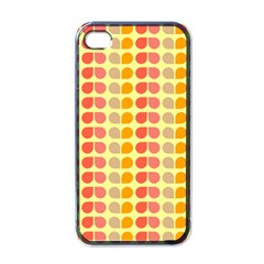 Colorful Leaf Pattern Apple Iphone 4 Case (black) by creativemom