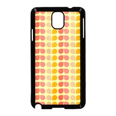 Colorful Leaf Pattern Samsung Galaxy Note 3 Neo Hardshell Case (black) by creativemom
